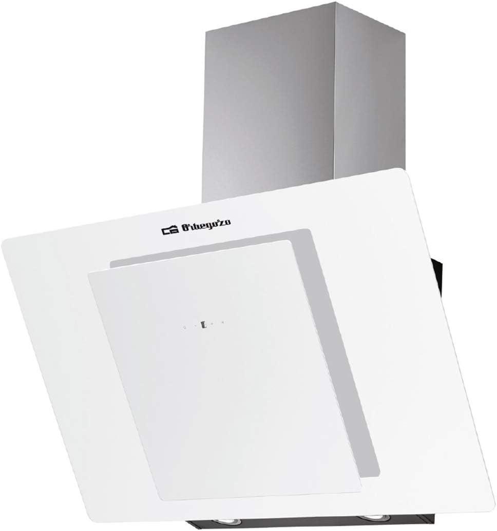 Orbegozo DS 80170 BL - Campana extractora decorativa 70 cm, Clase A, frontal de cristal templado, capacidad de extracción 728 m3/h, iluminación LED, 4 niveles de potencia