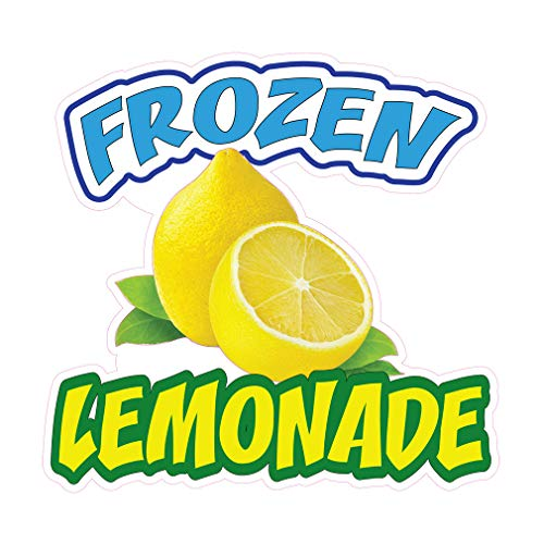 - Die-Cut Sticker Multiple Sizes Frozen Lemonade Restaurant & Food Frozen Lemonade Indoor Decal Concession Sign Yellow - 18in Longest Side