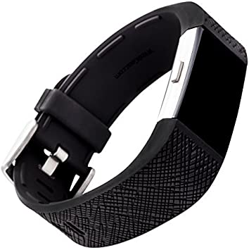 New Fitness Fitbit Charge 2 Strap Adjustable Replacement Silicone Bands Black