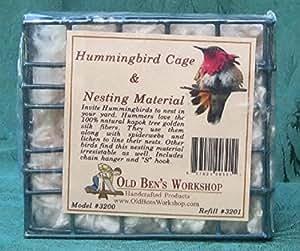 Hummingbird Nesting Material and Material Holder