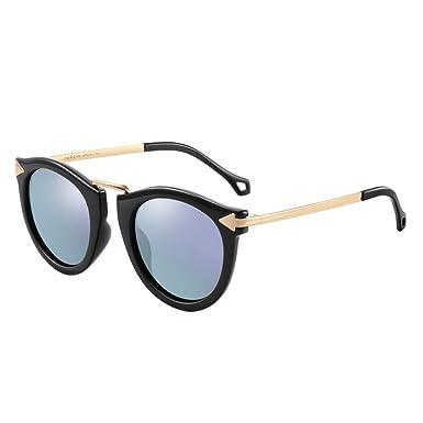 QingMu Gafas de sol Moda Gafas de sol Mujer Caja grande Cara ...