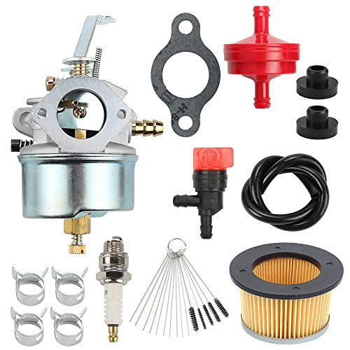 (Mannial 632230 Carburetor Carb with 30727 Air Filter fit Tecumseh 632631 632272 H30 H50 H60 HH60 5&6 HP 4 Cycle Engines Troy Bilt Chipper Vac 47279 47261 65582V Shredder Horse Tillers)