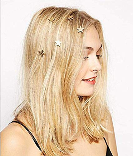 Yean Bridal Hair Clips Vingate Star Hair Pins 5 Packs - Wedding Headpieces for Women and Girls (Gold) ()