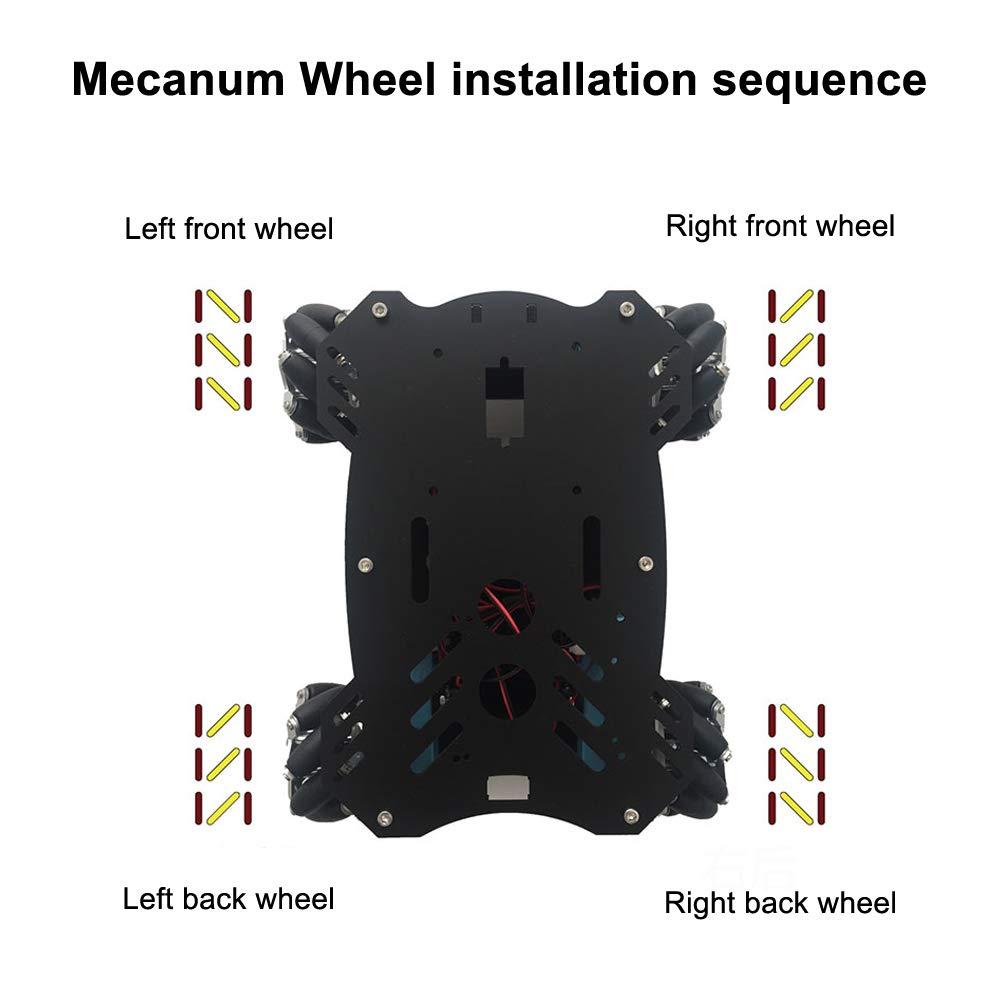 Mecanum Wheel 4PCS High Hardness Plastic Omnidirectional Wheel 65mm Robot Kit Drive Wheel Car Chassis Wheel for Ardunio Raspberry Pi DIY STEM Project