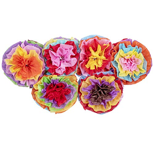 tions Fiesta Tissue Pom Paper Flowers - Mexican Party Supplies 16