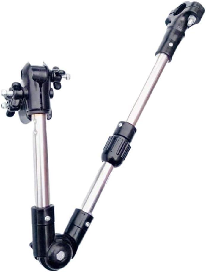 Soporte De Conector Multi-ángulo para Paraguas Sostenedor para Paraguas De Bicicleta para Bicicleta/Motociclismo Silla De Ruedas/Cochecito con Llave Fácil, Silla De Paseo Ajustable