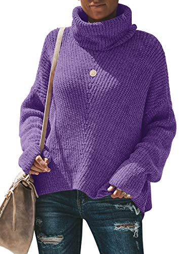 - Yskkt Plus Size Womens Sweaters Cowl Neck Cable Knit Oversized Chunky Turtleneck Sweater Pullover Jumper