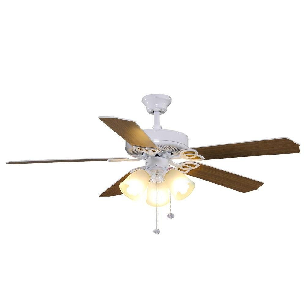 Hampton Bay YG268-WH Brookhurst 52 in. White Ceiling Fan