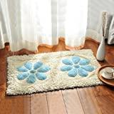 Cotton bathroom water-absorbing mats household mats non-slip door mat bathroom mat -5080cm d