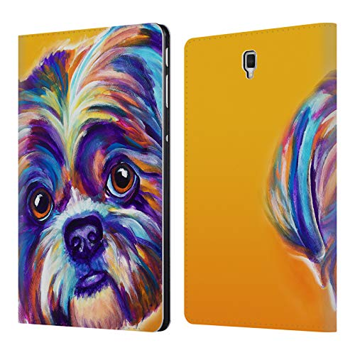 Official DawgArt Shih Tzu Lacey Dogs 2 Leather Book Wallet Case Cover Compatible for Samsung Galaxy Tab S4 10.5 (2018)