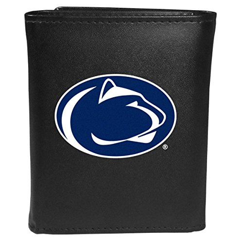 Siskiyou Sports NCAA Penn State Nittany Lions Tri-fold Wallet Large Logo, Black