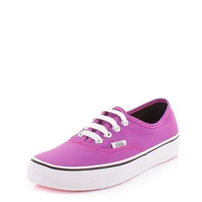1039fea388b9 Womens Vans Authentic Neon Purple True White Shoes SIZE 5  Amazon.co ...