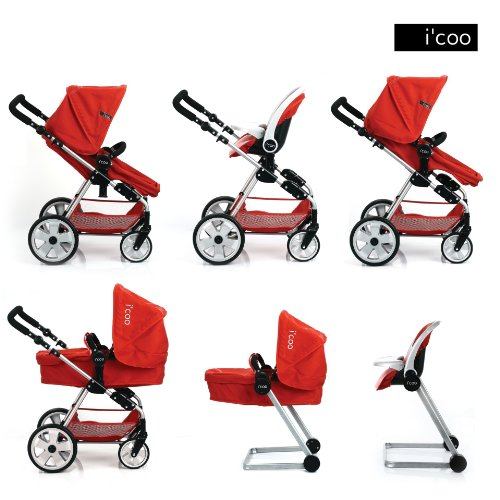 Amazon.com: Hauck Doll Stroller Pram I'coo Grow With Me PlaySet ...