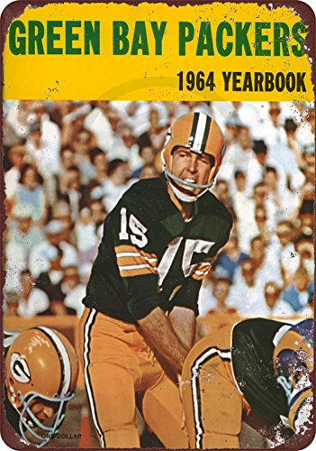 1964 GREEN BAY PACKERS yearbook Bart Starr Reproduction metal sign 8 x 12 (Green Starr)