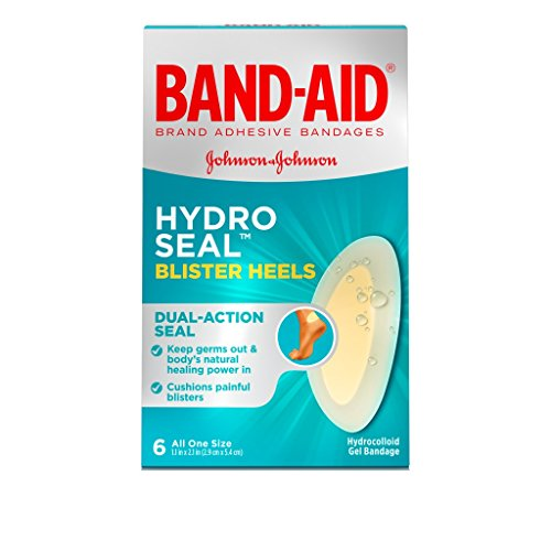 Band-Aid Hydro Seal Blister Heels, 6 Count (One-Size) Per Box (Pack of 2) ()