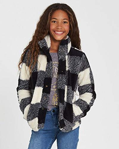 Billabong Girls' Girls' Artic Oasis Polar Fleece Jacket Black White Large ()