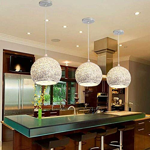 BOSSLV Dining Hall Pendent Lamp Modern One Hanging Light Creative Metal Aluminium Art Globe Chandelier Shade Bar Pendant Lamp for Bedchamber Parlor Hanging Lamp E27 Base [Energy Class A ()
