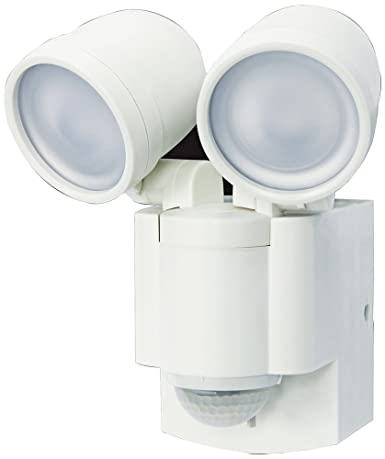 Battery Operated Motion Sensor Twin LED Light 140 Motion Sensor White