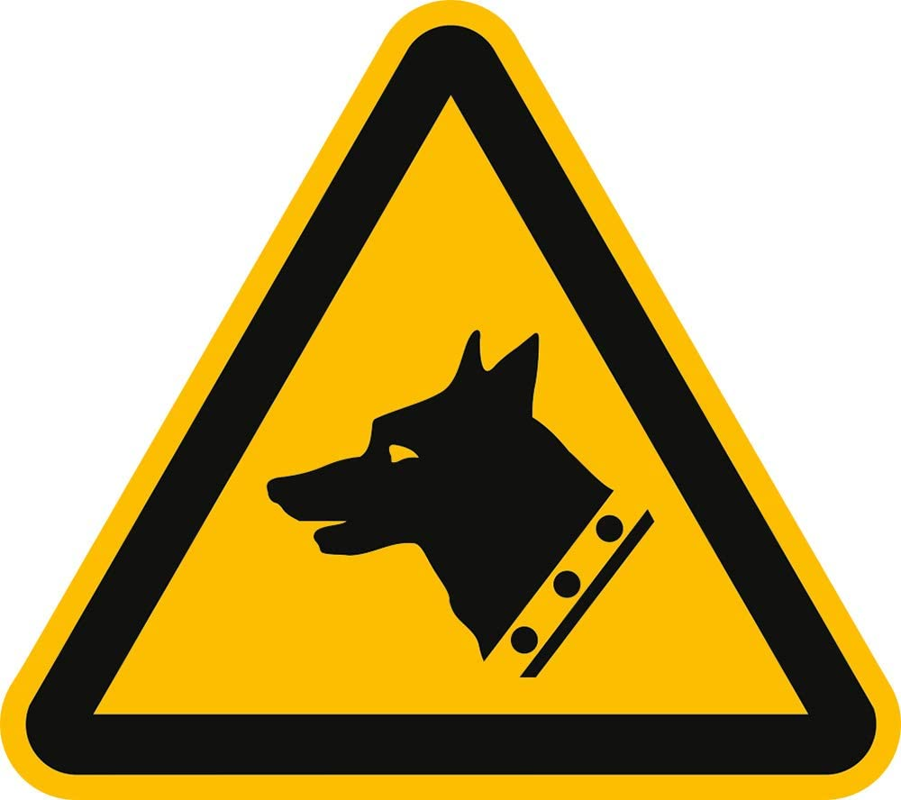 Panneau davertissement avant impression sur toile motif chien de garde conform/ément /à la norme iSO 7010 20 sl pVC conform/ément /à la norme iSO 7010 w013