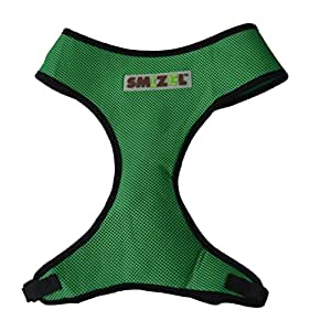 Dog Harness, Soft, Breathable, Easy Walk, Padded Vest, Lightweight, No More Pulling, Tugging or Choking by Smizel (XX-Large, Green)