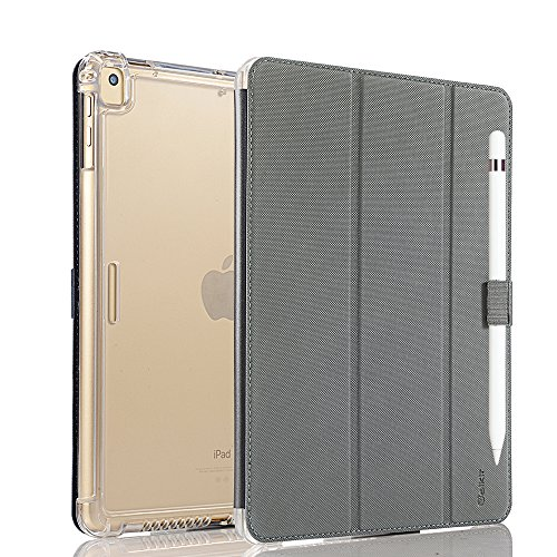 valkit iPad 9.7 Case 2018/2017 iPad 6th/5th Generation Case, iPad Air Case, iPad Air 2 Case - Smart Stand Protective Heavy Duty Rugged Impact Resistant Armor Cover with Pencil Holder, Grey