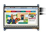 Waveshare 7 inch 1024*600 Capacitive Touch Screen LCD Display HDMI Interface Custom Raspbian Angstrom Supports Various Systems for All Ver. Raspberry pi Beaglebone Black Banana Pi/Pro Video Photo Kit