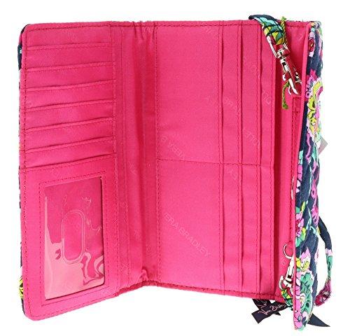 Bradley Strap Petal with Pink Paisley Wallet Vera Interior pwqTA88