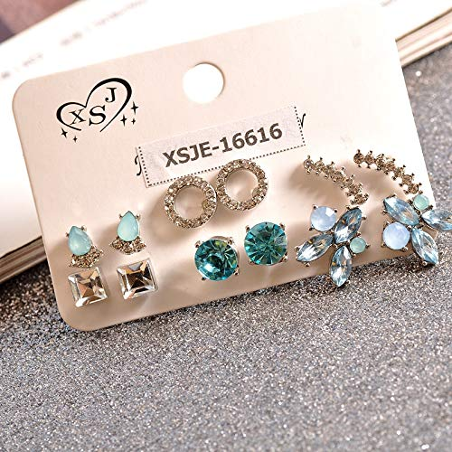 6 Pairs/Set Earrings Women accessorize Girls Birthday Party Earrings Beautiful Mix-and-Match]()