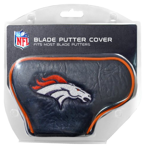 Team Golf NFL Denver Broncos Golf Club Blade Putter Headcover, Fits Most Blade Putters, Scotty Cameron, Taylormade, Odyssey, Titleist, Ping, Callaway