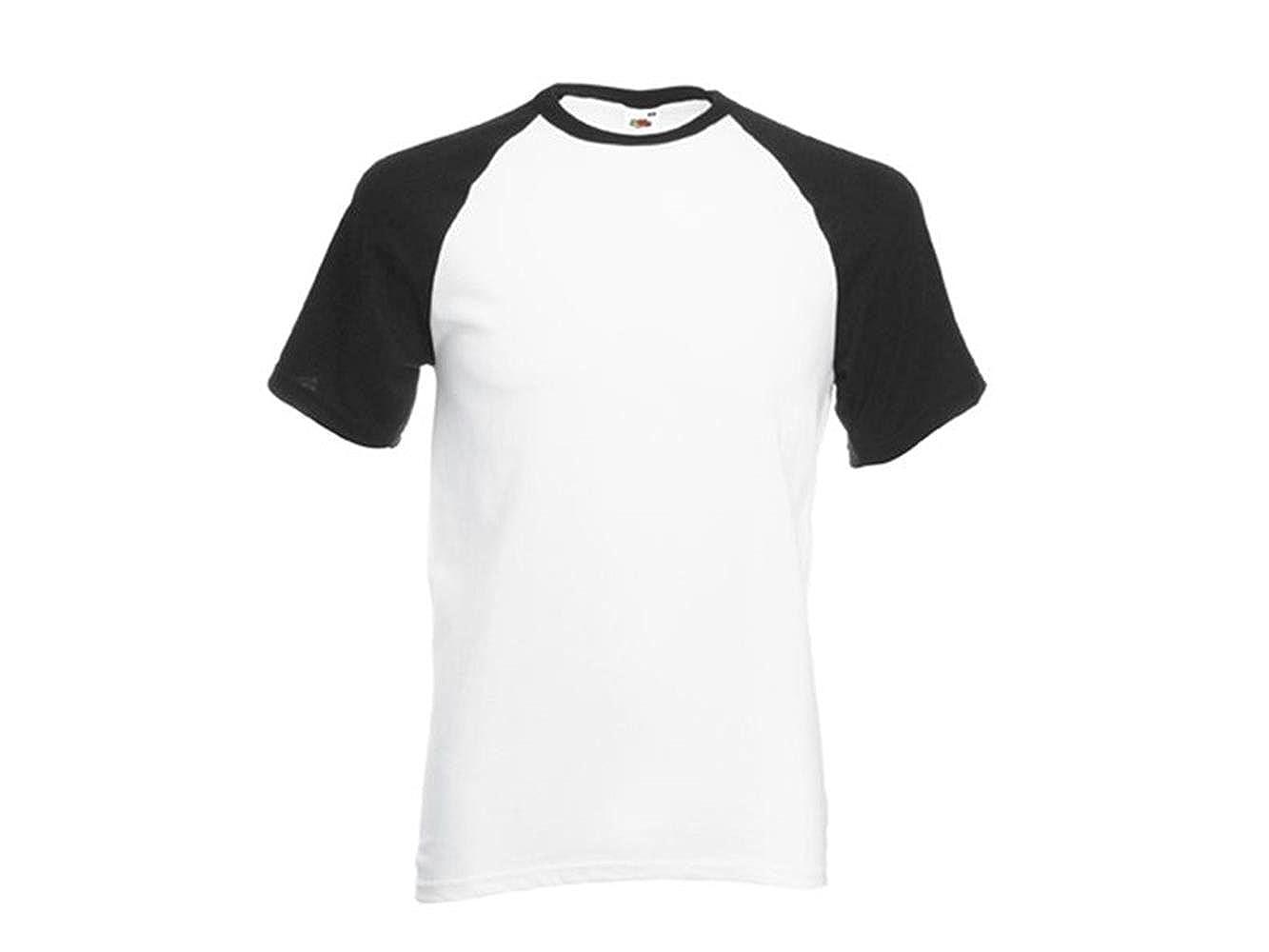 con Manica Lunga Stile Raglan 100/% Cotone Leggera Bianca Raftaar/® Maglia da Baseball Unisex