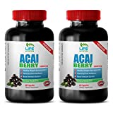 Product review for antioxidant acai supplement - ACAI BERRY 1200MG - acai energy boost - 2 Bottles (120 Capsules)