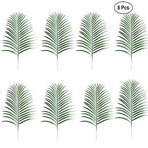 Tropical Leaf,Artificial Plant Leaves,Fake Leaf, for Hawaiian Luau Party Decoration 8Pcs ()