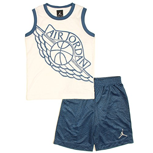 Nike Jordan Jumpman Boys Tank Top and Shorts Set (7, French Blue Air (Jordan Apparel)