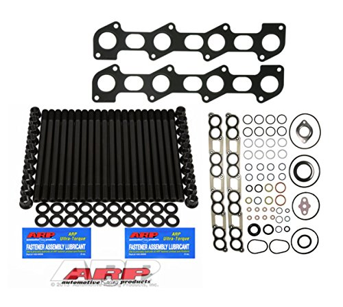 03-07 Ford Powerstroke Diesel 6.0L Custom ARP Head Stud Kit & Intake Manifold Gasket Installation Kit & Exhaust Manifold Gasket Set - Bundle