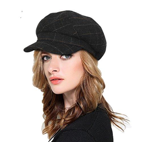 Dahlia Women's Wool Blend Newsboy Cap Hat