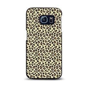 CUSTOM Black Spigen ThinFit Case for Samsung Galaxy S6 EDGE - Black Beige Tan Leopard Skin Spots