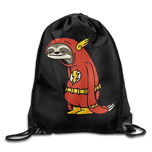 Funny Sloth Shirt The Flash Drawstring Backpack Sack Pack Bag Rucksack Kids Adults Shoulder Bags For Gym Traveling