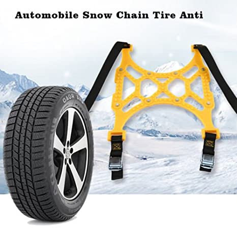 alicenter (TM) automóvil cadenas para nieve neumático antideslizante espesan rueda Tpu cadena para coche neumático: Amazon.es: Electrónica