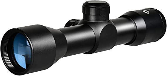 CVLIFE 4x32 Compact Rifle Scope Crosshair Optics Hunting Gun Scope with 20mm Free Mounts