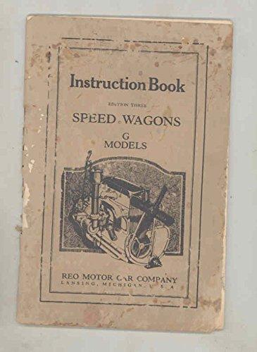 G-ga Wagon - 1931 1932 Reo Speed Wagon G GA GB GC GD GE Truck ORIGINAL Owner's Manual