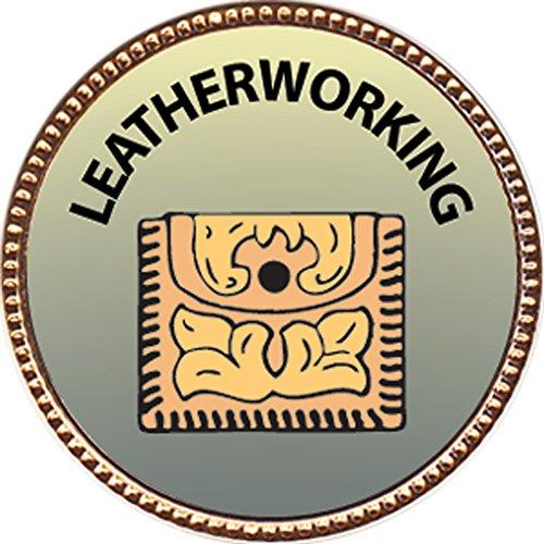 Leatherworking Award, 1 inch dia Gold Pin