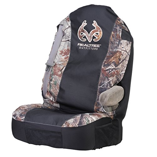 Realtree Universal Seat Cover (Realtree AP Camo, Heavy-Duty Polyester, Sold Individually) (Cowboy Belt Frame)