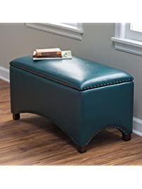 Premium Nailhead Storage Bench   Modern Leather Window Seating Organizer  Home Furniture Living Room Bedroom Entryway