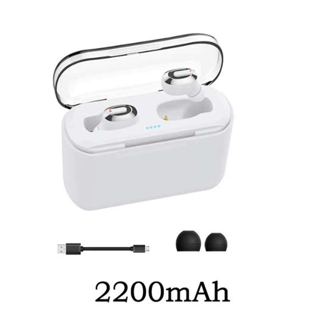 Queind Durable Practical Portable Multipoint Connection Bluetooth Earphone Earbud Headphones