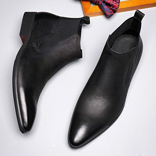 34af35c29002 Herren Lederschuhe Herren Lederschuhe High-Top-Schuhe wies britischen Stil  Martin Stiefel kurze Stiefel ...