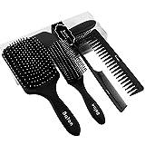 4Pcs Paddle Hair Brush, Detangler Hair Brush, Detangling Hair Brush Set for Men Women By Balon, Great On Wet Or Dry Hair, No More Tangle Comb for Long Thick Curly Natural Hair