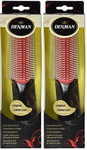 Denman Cushion Brush Nylon Bristles, 9-Row-2 PACK