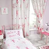 Born To Dance Ballerina Lined Curtains 72' Drop by PriceRightHome