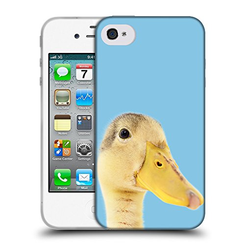 GoGoMobile Coque de Protection TPU Silicone Case pour // Q05760609 Caneton Bambina blu // Apple iPhone 4 4S 4G
