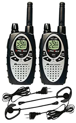 Midland Xtra Talk GXT400VP1 10-Mile 22-Channel FRS/GMRS Two-Way Radio (Pair) by Midland